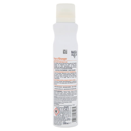 Déodorant spray Extra Doux Fleur d'oranger Vue Arrière