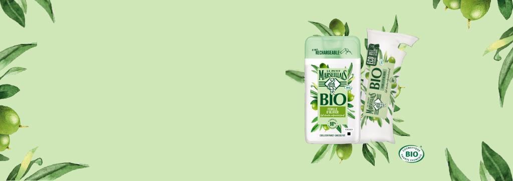 Cosmétique bio Le Petit Marseillais - gamme de gels douche bio