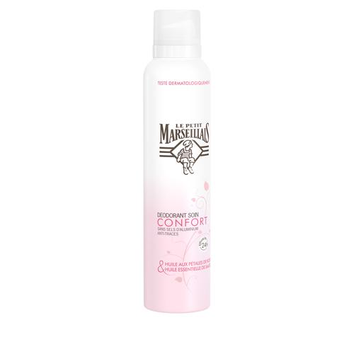 Déodorant Spray Soin Confort Huile de Pétales de Rose, Sauge